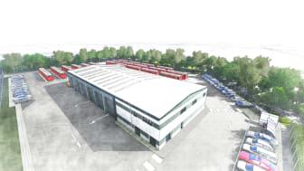 An artist's impression of the new Consett depot