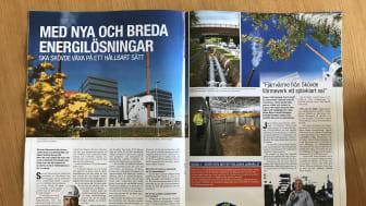 Skövde Värmeverk medverkar i stadsbyggnadstidning