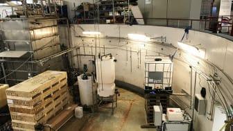 Tekniken för att rena dricksvatten från PFAS testas nu på Hammarby sjöstadsverk. Foto: Andriy Malovanyy, IVL