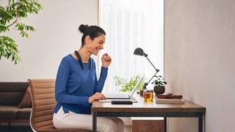 SRS-NB10 : l'enceinte tour de cou Bluetooth® sans fil pour mieux travailler depuis la maison