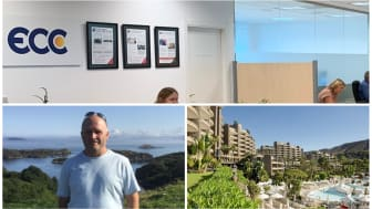 ECC claims firm.  Bottom left:  Andrew Rees, former ANFI owner, and ECC client.  Right:  ANFI Beach Club.