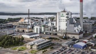Svensk massa-, kemi- och pappersindustri går samman i ett partnerskap tillsammans med RISE för att utforska möjligheterna med grön vätgas och elektrobränslen i Sverige.  Foto: Södra Cell Massabruk, Värö