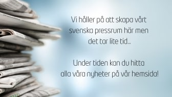 Vi håller på att skapa vårt svenska pressrum här men du kan hitta alla våra nyheter på engelska på vår hemsida
