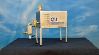 QTF underhållsavgasare används efter snabbavgasning genomförts till < 0,5 mg syre/liter systemvätska