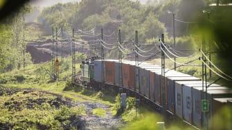 Utbygnaden av Hamnbanan möjliggör att ännu mer gods fraktas via järnvägen till Göteborg. Bildkälla: Göteborgs Hamn AB.