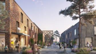 Karlstads nya stadsdel Klara Park. Illustration: Liljewall arkitekter