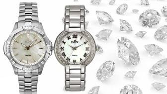 «Diamonds are a girl's best friend» - nye klokker med diamanter fra Inex.