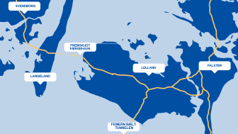 Illustration: Ved at bygge en fremskudt havn i Tårs kan sejltiden halveres.
