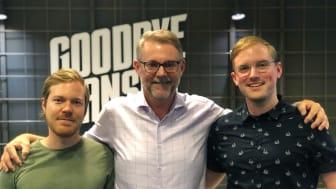 Anton Palmqvist, Peter Levin och Joakim Olsson på Goodbye Kansas