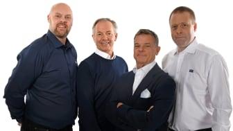 KGK:s monterpersonal (fr. v): Magnus Ehrenrot, Dan Kimblad, Mats Wedell och Anders Craemer.