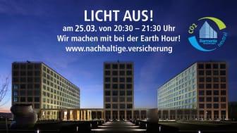 Barmenia nimmt mit ihren Wuppertaler Hauptverwaltungen an der Earth Hour teil.