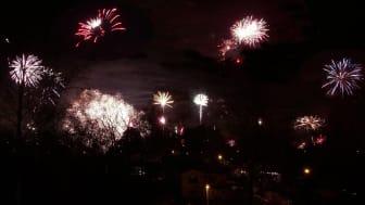 Fyrverkerier över Stockholm nyår 2011/2012