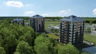 I naturnära Tröinge Ängar planerar HSB Göta bygga totalt 95 lägenheter