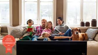 Tittarsuccén fortsätter - Telias tv-kunder nöjdast i Sverige för sjunde året i rad enligt SKI
