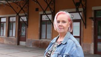 Ylva Pettersson (M). Kameraövervakningen ska, om den blir godkänd av Integritetskyddsmyndigheten, bevaka stationsområdet sena kvällar och nätter.