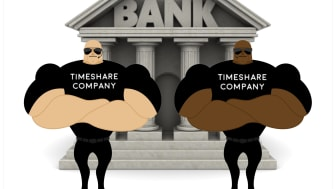 We won't let you leave unless you agree to never sue the banks who worked with us...