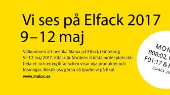 Vi ses på Elfack 9–12 maj