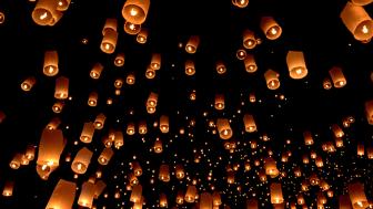 400 rislyktor på nyårsafton blir startskottet på jubileumsfirandet.       Foto: Getty Images