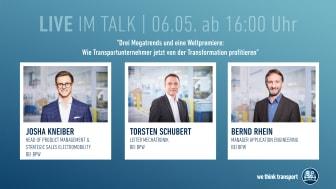 Drei Megatrends und eine Weltpremiere - Live-Talk am 6. Mai ab 16:00 Uhr