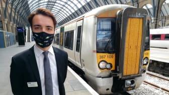 Kickstart candidate, Ralp Lallau, reopening Kings Cross station last month