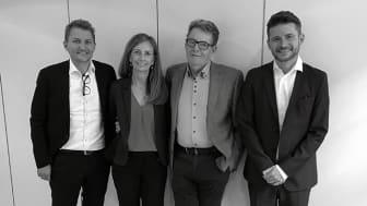 Fra venstre: Koncerndirektør Peter Laursen, direktør Githa Nørbæk, ledelse Regnar Johnsen og direktør Bo Bay Hougaard.