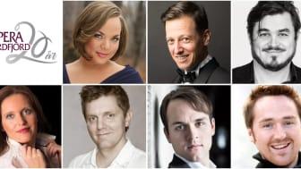 La Bohème sitt solistlag: Margrethe Fredheim, Thorbjørn Gulbrandsøy, Mads Wighus, Gunda-Marie Bruce, Eirik Roland Egeberg-Jensen, Thomas Røshol og Lars Eggen.