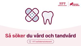 Så söker du vård och tandvård i Dalarna