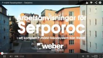 Weber lanserar instruktionsfilmer för P-märkta fasadsystem