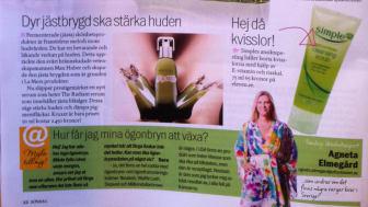 Artikel om Lycq i Aftonbladet Söndag
