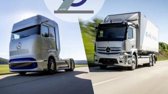 Mercedes-Benz eActros og GenH2 vinder innovationspris