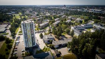 Vy över Tallgården och området Araby.