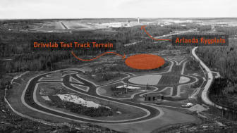 Nya DRIVELAB Test Track Terrain placeras strategiskt invid Arlanda flygplats och befintliga testanläggningen DRIVELAB Test Track 1.