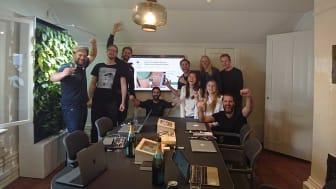 Flic team celebrating reaching $100k within 60 min.
