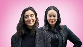 Fr v: Farida al-Abani och Teysir Subhi, partiledare för Feministiskt initiativ.