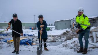 Första spadtaget för Polarbröds nya bageri i Älvsbyn tidigare i år