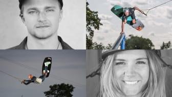 William Klang, Albin Randow, Melanie Staaf och Anna Nikstad tävlar i den nya tävlingen Wake Pool Challenge.