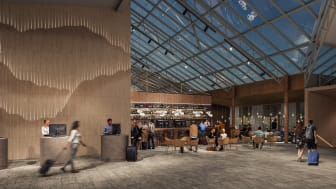 Quality Hotel Arlanda XPO hotell lounge och bar, öppnar 1:a november 2020. Foto: ModArkitekter
