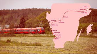 MTRX lanserar direkttåg till nya destinationerna Båstad och Laholm via Göteborg, Varberg, Falkenberg och Halmstad