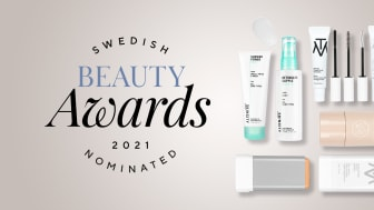 Nomineringsregn över Skincitys egna varumärken i Swedish Beauty Awards
