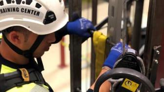 Bild från utbildningstillfälle hos C2 Vertical safety