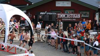 Inov-8 Sprinten lockade en hel del publik som följde detta fartfyllda inslag i Fjällmaratonveckan.