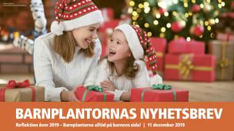 BARNPLANTORNAS JULNYHETSBREV den 9 december 2019
