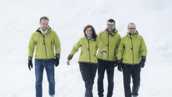 Torgeir Fosse, Hilde Berg, Tore Nilsen og Stig A. Hanssen i Ishavskraft. Foto: Marius Fiskum