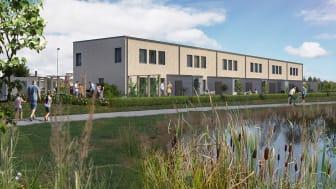 Lyckos startar försäljningen av 18 radhus i Häljarp utanför Landskrona