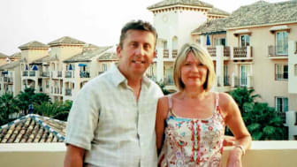 "Furious at ""profiteering"".  John and Linda House owners at Marriott´s Marbella Beach Club for 20 years.  Seen here in happier times."