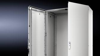 Med det nya golvskåpet VX25 möter Rittal de krav som följer den fjärde industriella revolutionen, Industri 4.0, då all produktion digitaliseras.