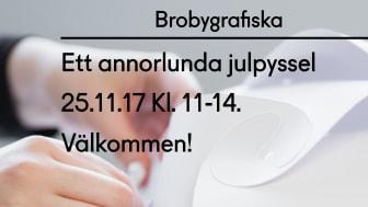 Ett annorlunda julpyssel - Öppet hus Brobygrafiska