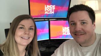 Rebecca S Persson och Pontus S Lindroth vill med Lindeportalen skapa en bred och digital mötesplats för hela Lindesberg.