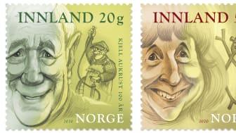 Posten gir ut frimerker med portretter av Kjell Aukrust, Anne-Cath Vestly og Jens Bjørneboe 19. mars.