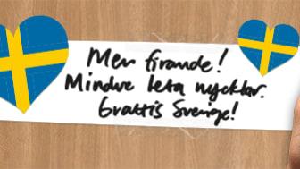 Mer firande! Mindre leta nycklar. Grattis Sverige!